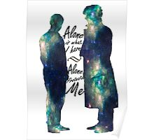"Johnlock ""ALONE IS WHAT I HAVE"" Poster"