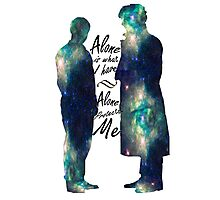 "Johnlock ""ALONE IS WHAT I HAVE"" Photographic Print"