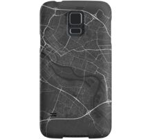 Bremen, Germany Map. (White on black) Samsung Galaxy Case/Skin