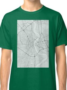 Cologne, Germany Map. (Black on white) Classic T-Shirt