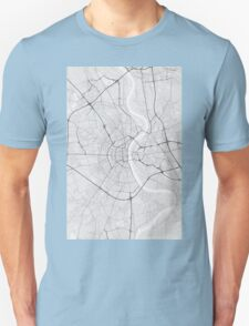 Cologne, Germany Map. (Black on white) Unisex T-Shirt