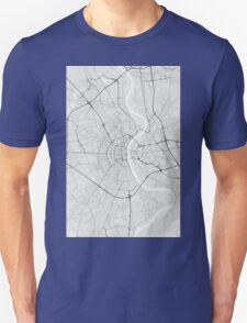 Cologne, Germany Map. (Black on white) T-Shirt