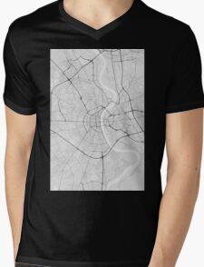 Cologne, Germany Map. (Black on white) Mens V-Neck T-Shirt