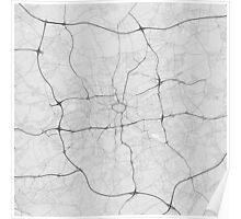 Dortmund, Germany Map. (Black on white) Poster