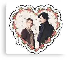 HEARTED JOHNLOCK Canvas Print