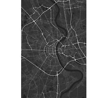 Cologne, Germany Map. (White on black) Photographic Print