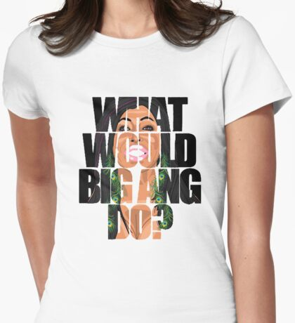 big ang  Womens Fitted T-Shirt