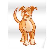 Orange Pup Poster