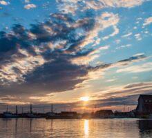 Sunset in Bonavista, Newfoundland Sticker