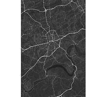 Essen, Germany Map. (White on black) Photographic Print
