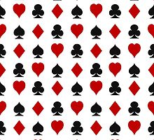 Playing cards suits by Marta Jonina