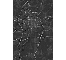 Frankfurt, Germany Map. (White on black) Photographic Print