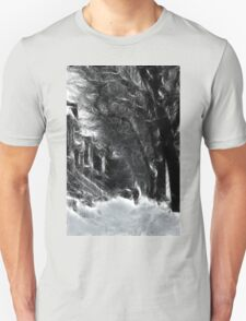 Montreal Winter Windy Scene à la Van Gogh T-Shirt