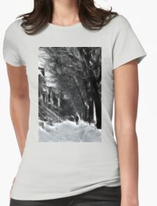 Montreal Winter Windy Scene à la Van Gogh Womens Fitted T-Shirt