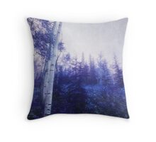 Wander trough the foggy forest Throw Pillow