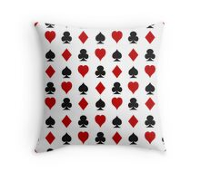Playing cards suits Throw Pillow