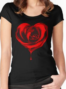 Blood Rose Women's Fitted Scoop T-Shirt