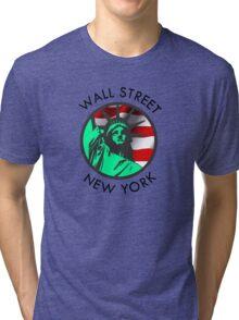 Wall Street, New York Tri-blend T-Shirt