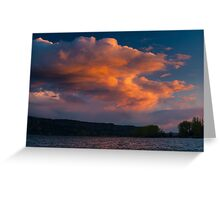 Stormy Spring Sunset Greeting Card
