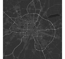 Munich, Germany Map. (White on black) Photographic Print