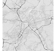 Stuttgart, Germany Map. (Black on white) Photographic Print