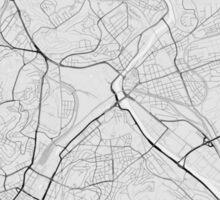 Stuttgart, Germany Map. (Black on white) Sticker