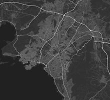 Athens, Greece Map. (White on black) by Graphical-Maps