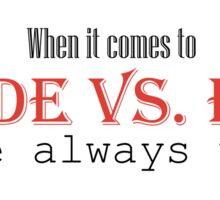 Goode vs. Evil (Red) Sticker