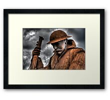 1101 Statue At Seaham #2 Framed Print