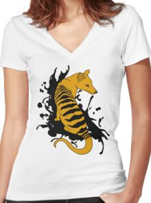 Thylacine Ink Women's Fitted V-Neck T-Shirt