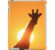 Giraffe Silhouette - Golden Sunset African Wildlife iPad Case/Skin