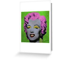 Vampire Marilyn variant 2 Greeting Card