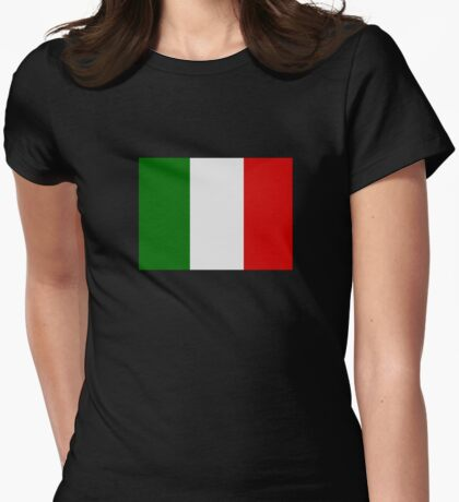 Italian Flag Womens Fitted T-Shirt
