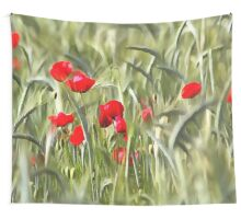 Corn Poppies Wall Tapestry