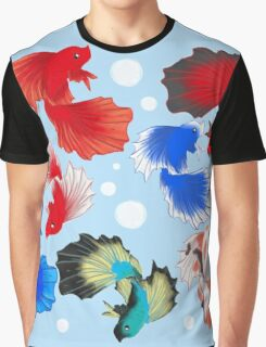 Bettas and Bubbles Graphic T-Shirt