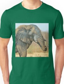 Elephant Bull - Beautiful Mud - African Wildlife Unisex T-Shirt