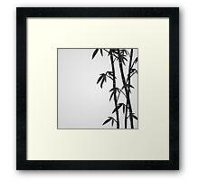 Bamboo stems Framed Print
