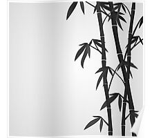 Bamboo stems Poster