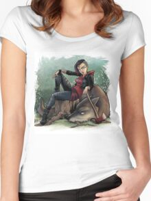 Little Red - Fury Tales #1 Women's Fitted Scoop T-Shirt