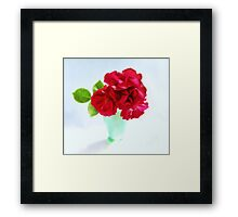 Red Red Roses Still Life Framed Print
