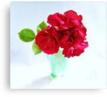 Red Red Roses Still Life Canvas Print
