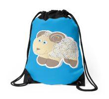 Curly lamb Drawstring Bag