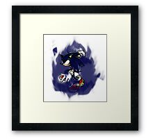 Dark Sonic (White Background) Framed Print