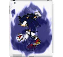 Dark Sonic (White Background) iPad Case/Skin