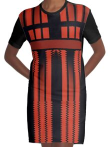 Red Lines Of Glamour  Graphic T-Shirt Dress