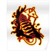 Flame Thylacine Poster