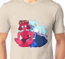 Flower Ruby and Sapphire Unisex T-Shirt