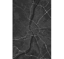 Budapest, Hungary Map. (White on black) Photographic Print