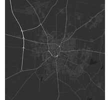Debrecen, Hungary Map. (White on black) Photographic Print