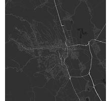 Miskolc, Hungary Map. (White on black) Photographic Print